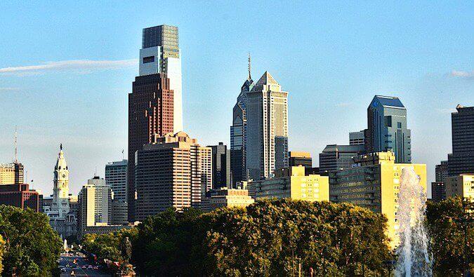 The Philadelphia skyline during the day