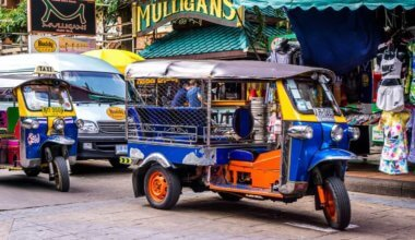 Tuk-tuks on Khao San Road, Bangkok