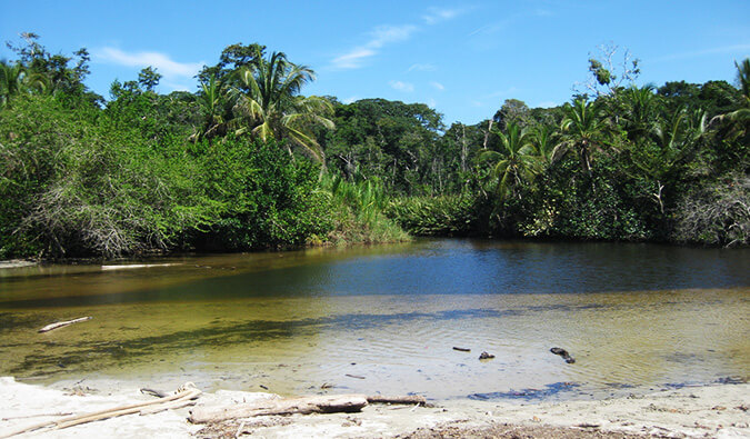 lake in Cahuita National park