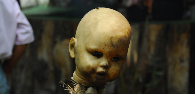A head from the island of dolls