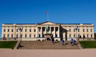 The Royal Palace of Oslo, Norway in the summer