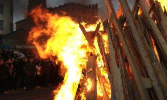 A Valborg Day Bonfire