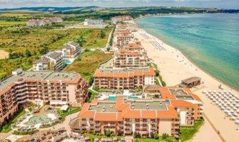 The crwoded Sunny Beach in Bulgaria