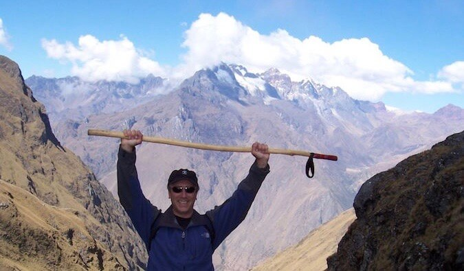 Author Tim Leffel after climbing a mountain