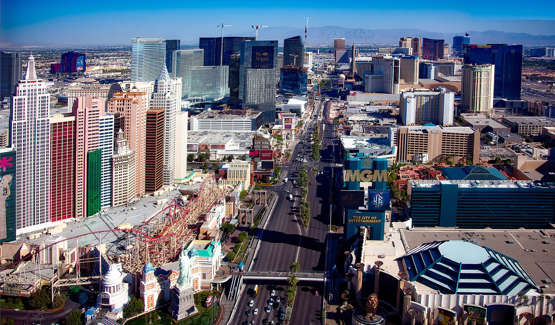 View of Vegas taken from a high vantage point during the day