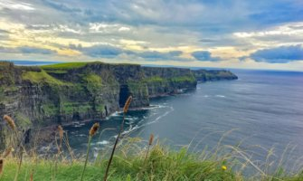 The towering Cliffs of Moher in Ireland