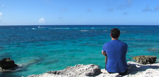 Nomadic Matt looking out over the ocean in Bermuda