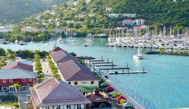 Sailboats docked in the British Virgin Islands