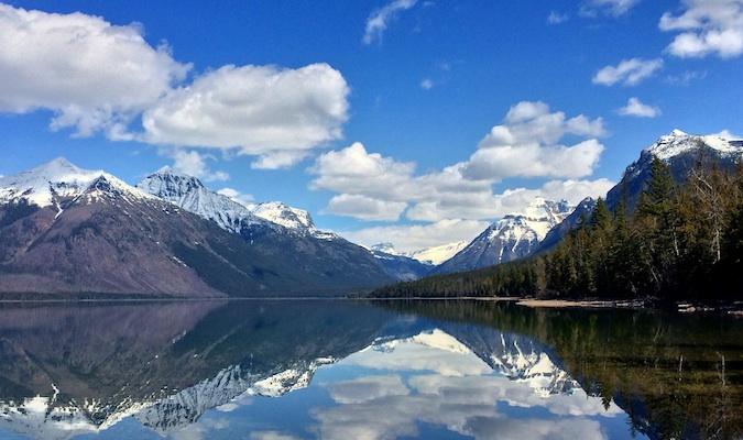 A lake at Glacier National Park in Montana