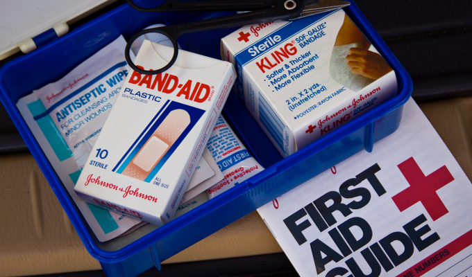 A picture of a first aid kit