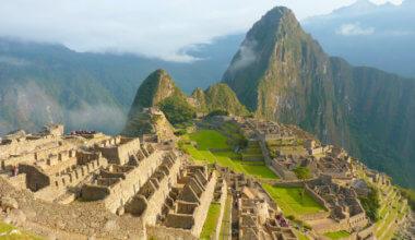 View of Machu Picchu in the morning in Peru
