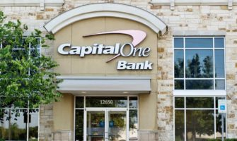 The exterior of a Capital One bank in the USA