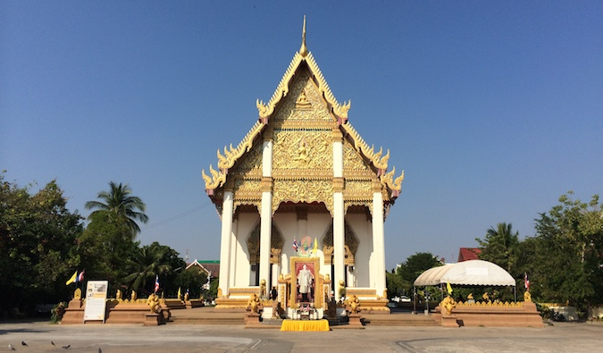 A temple in Isaan Thailand