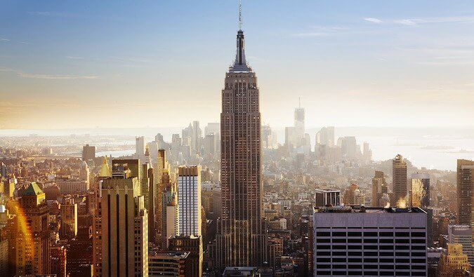 A picture of the Empire State Building in NYC