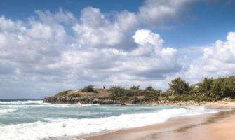 A quiet beach in Tofo, Mozambique