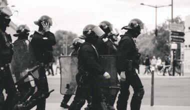 Riot police in Lyon, France