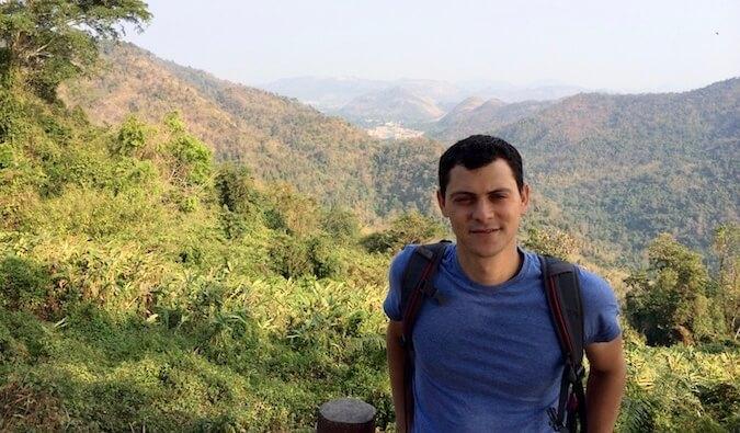 Nomadic Matt hiking in Thailand