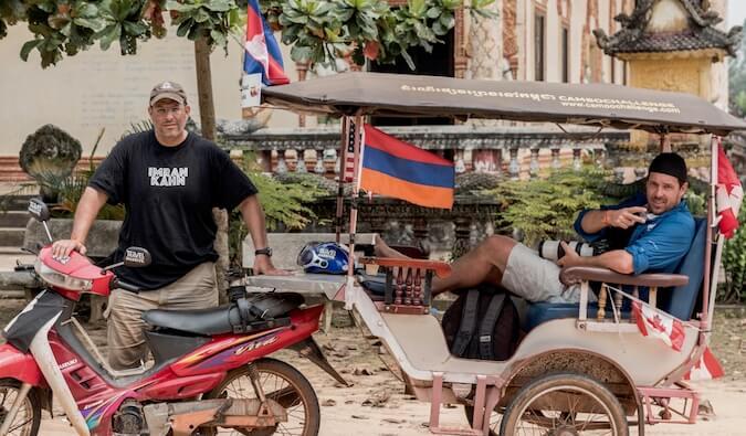 Global Gaz with a moterbike