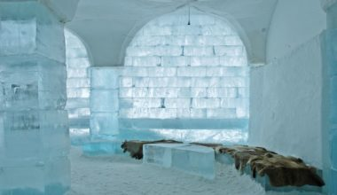 The interior of the Swedish ice Hotel