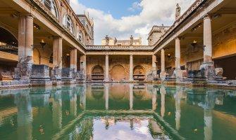 Visiting the Roman Baths in Bath, England