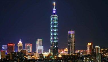 Taipei 101 at night in Taiwan