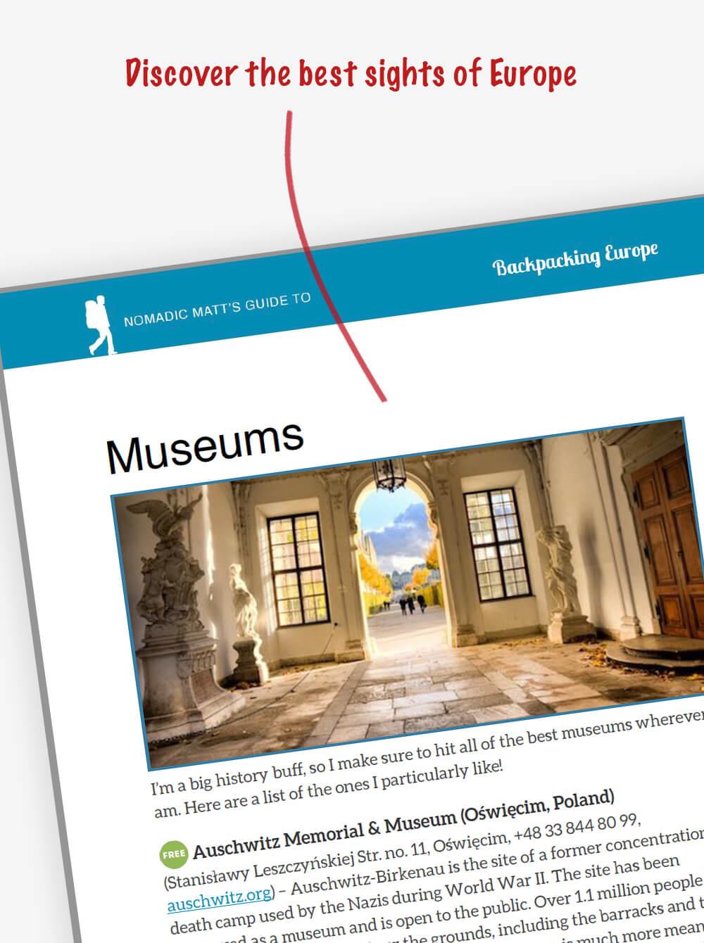 Europe Guidebooks