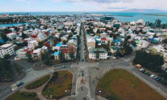 the view overlooking Reykjavik