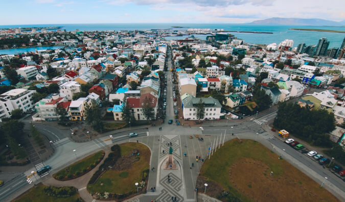 the view overlooking Reykjavik