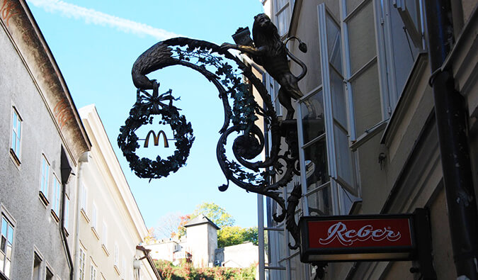 mcdonalds sign in europe
