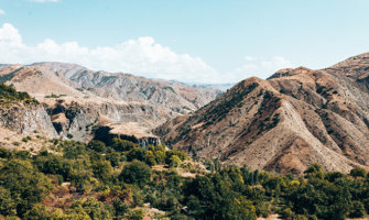 a rugged mountain landscape in Armenia
