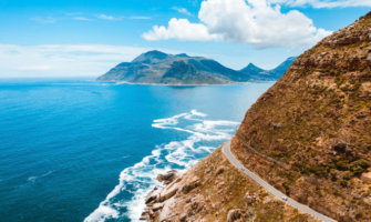 The coastal drive near Cape Town, South Africa