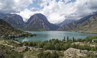 The beautiful mountains of Tajikistan in Asia