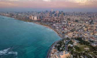 The lively city of Tel Aviv in israel