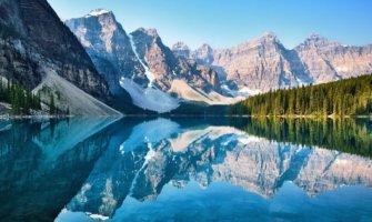 The peaceful scenery of Banff, Alberta
