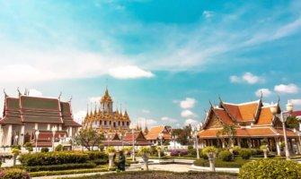 The palace in Bangkok, Thailand