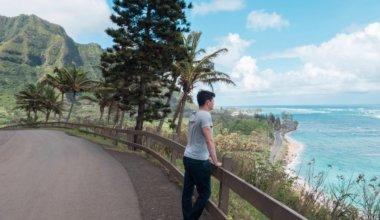 Noamdic Matt in Hawaii looking out over the water