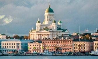 The historic skyline of Helsinki, Finland
