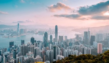The view overlooking Hong Kong from the Peak