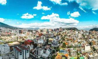 The view overlooking Quito, Ecuador