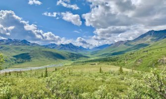 Tombstone Territorial Park near the Dempster Highway in Yukon, Canada