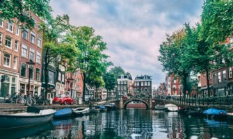 The calm canals of Amsterdam, Netherlands