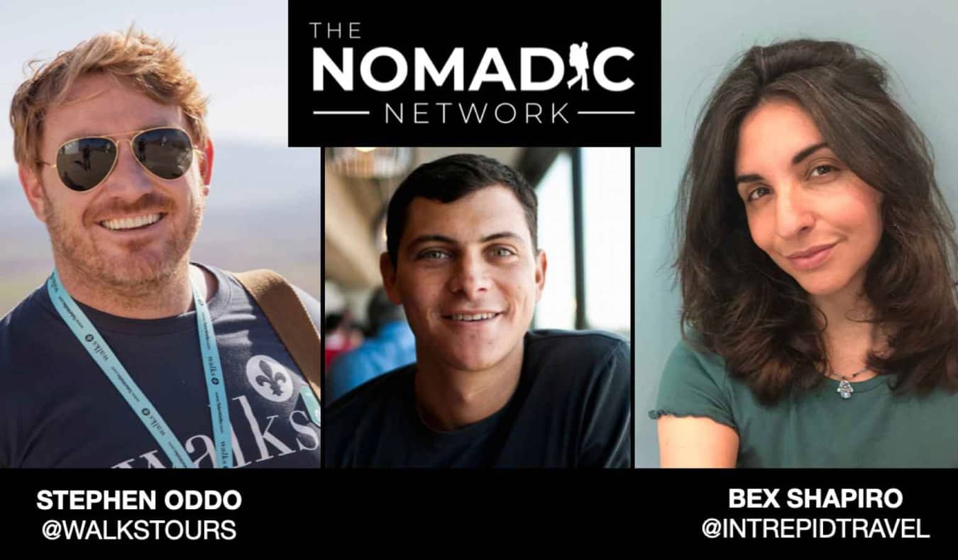 Nomadic Matt and two travel industry professional