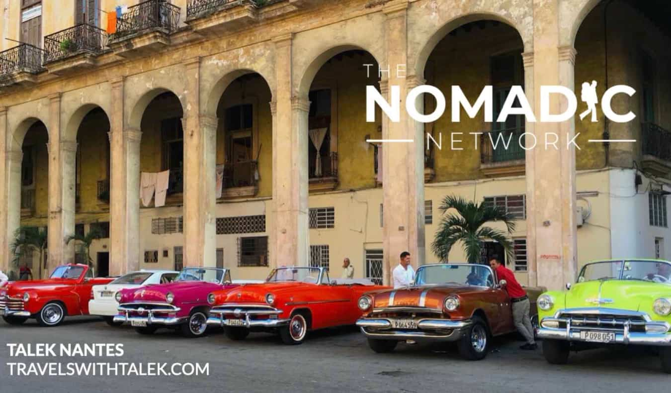 Vintage cars parked in Cuba