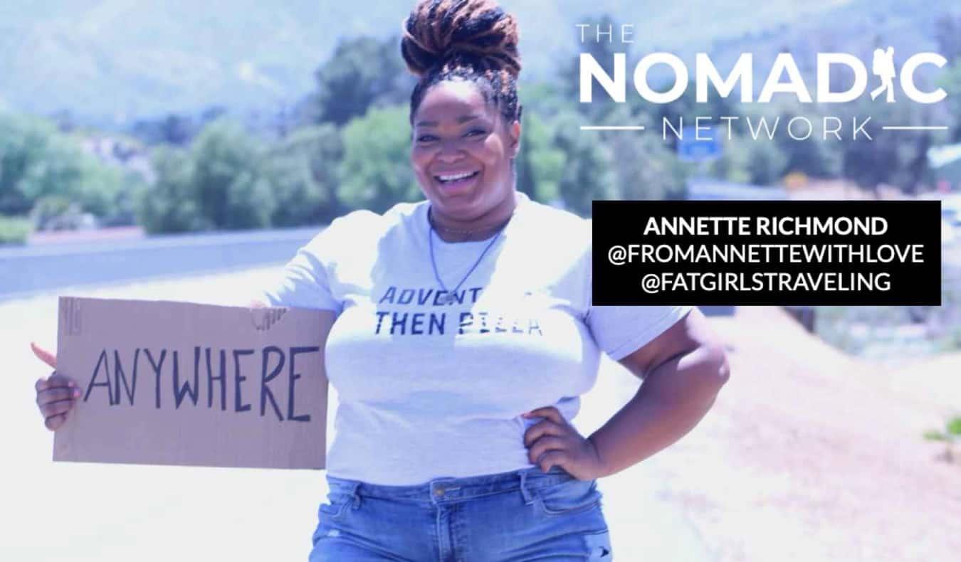 Annette Richmond hitchhiking