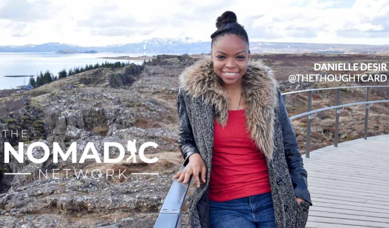 A black solo female traveler posing abroad