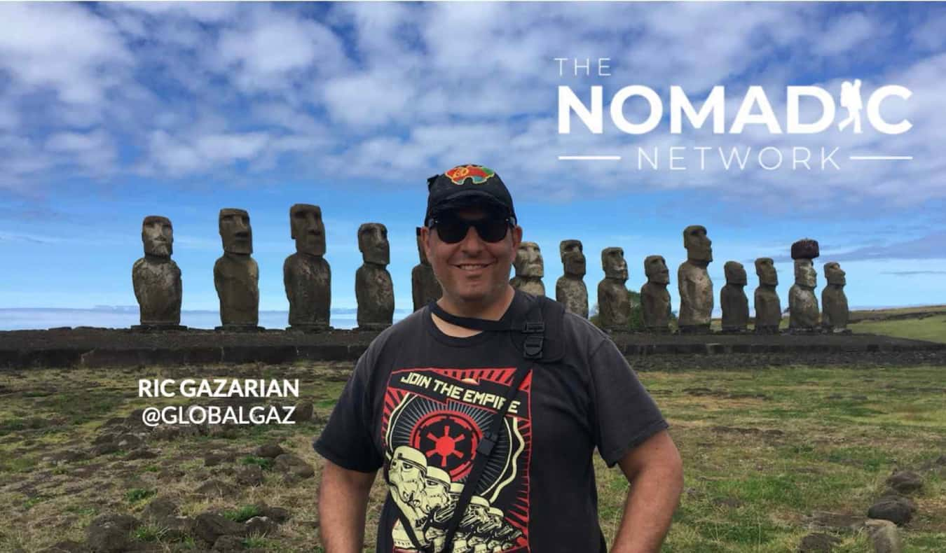 Ric from Global Gaz on Easter Island