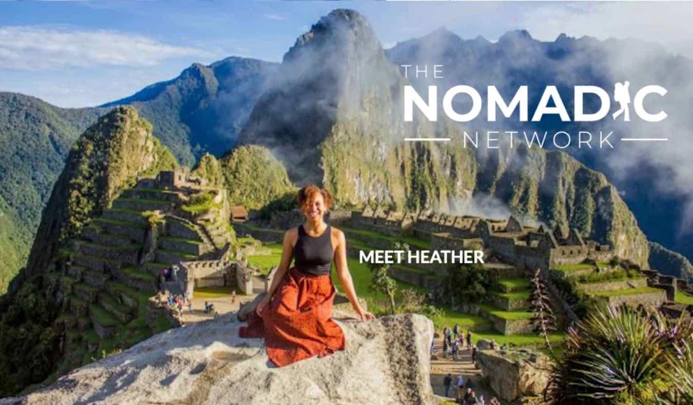 Heather, a solo traveler, at Machu Picchu in Peru