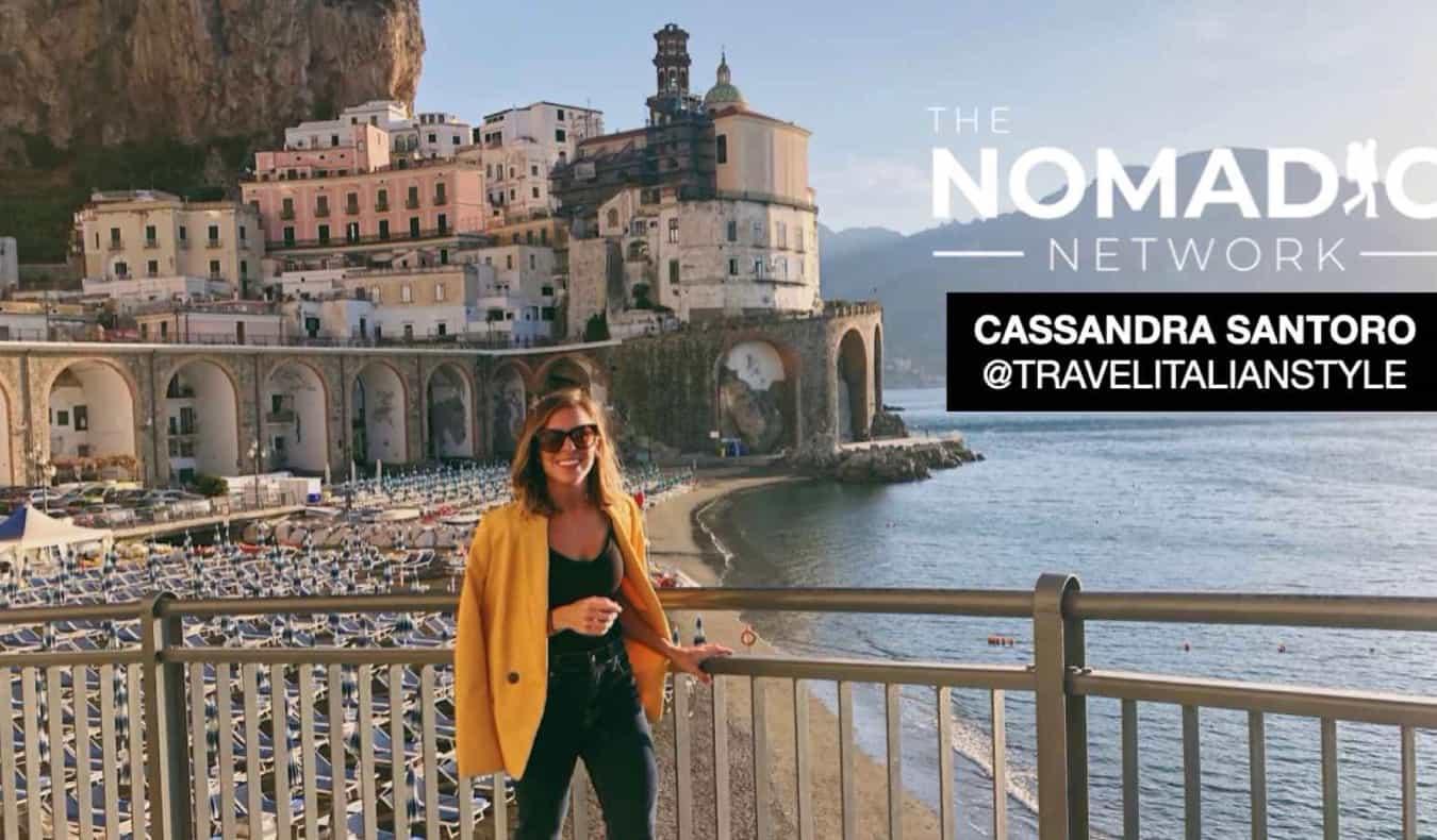 Cassandra Santoro posing in Italy