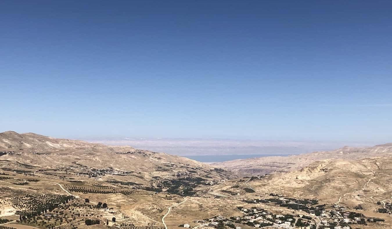 A sweeping vista over the desert in Jordan