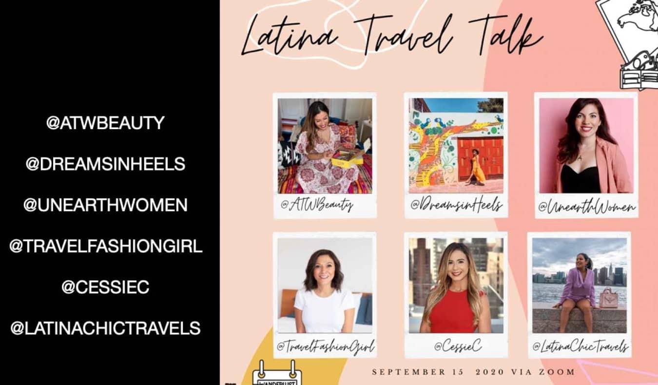 Latina travel experts on a panel